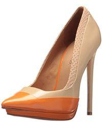 L.A.M.B. - Janey Color Block Pump, Naked/orange, 5.5 M Us - Lyst