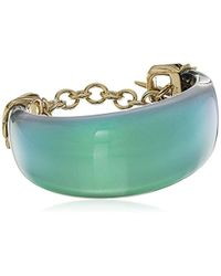 Alexis Bittar - Crystal Studded Pleated Toggle Cuff Bracelet - Lyst