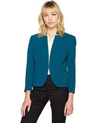 Nine West - Solid Crepe Kiss Front Jacket (2) - Lyst
