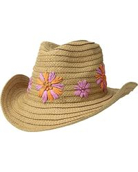 Lyst - Betsey Johnson Blue By Summer Floppy Straw Hat Mrs. in Natural db58d3ade
