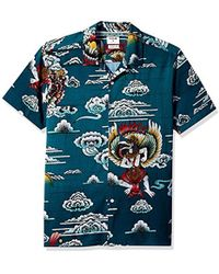 Hurley - Indo Graphic All Over Print Short Sleeve Button Up Shirt - Lyst
