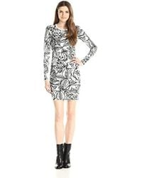 9bca8894 French Connection - Tattoo Knits Longsleeve Printed Dress - Lyst