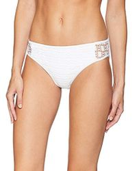 Kenneth Cole Reaction - Crochet Hipster Bikini Swimsuit Bottom - Lyst