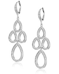 "Judith Jack - ""charming Chandelier"" Sterling Silver And Crystal Mini Chandelier Drop Earrings - Lyst"