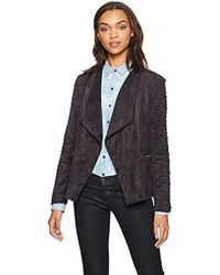 Cupcakes And Cashmere Doris Drape Front Jacket - Gray
