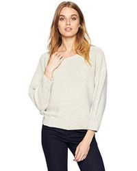 9bfc1eedfc7 French Connection Cold-shoulder Mozart Sweater in Gray - Lyst
