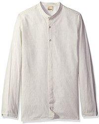 Baldwin Denim - Mingo-mandarin Collar Shirt W/partial Covered Placket - Lyst