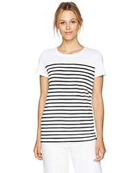 Nautica - Short Sleeve Top With Back Lacing Detail - Lyst