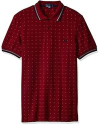 Fred Perry - Square Print Shirt - Lyst