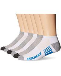 Skechers - Half Cushion 6 Pack Low Cut Socks - Lyst
