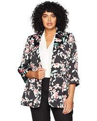 Calvin Klein - Plus Size Open Floral Jacket - Lyst