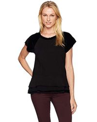 Wilt Peplum Sweatshirt Mixed - Black