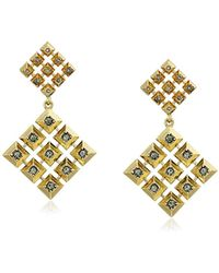 House of Harlow 1960 - The Lyra Statement Gold Drop Earrings - Lyst