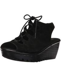 0e8796a7f4e Skechers - Parallel Peep Toe Ghillie Slingback Wedge Sandal - Lyst