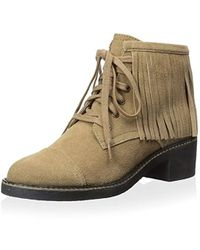 House of Harlow 1960 - Cutler Lace Up Ankle Boot Fringes - Lyst