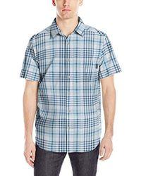 0023ba65 American Eagle Ae Hawaiian Poplin Button-down Shirt in Gray for Men ...