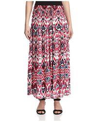 James & Erin - Printed Full Skirt - Lyst