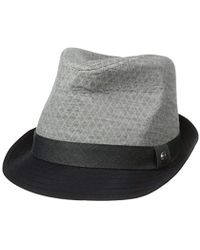 Perry Ellis - Textured Colorblocked Fedora - Lyst