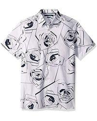 Perry Ellis - Short Sleeve Floral Print Shirt - Lyst