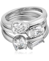 Nicole Miller - Multi-cut Set Of 4 Stackable Ring, Size 7 - Lyst