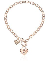 Guess - S Puffy Heart Toggle Necklace - Lyst