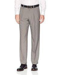 Franklin Tailored - Expandable Waist Classic-fit Pleated Dress Pants, -light Grey, 32w X 28l - Lyst