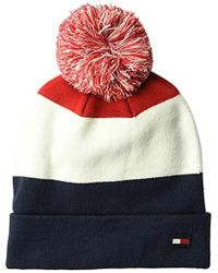 ef818edb Lyst - Tommy Hilfiger Cold Weather Cuffed Beanie in Red for Men