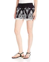Guess - Genevive Embroidered Short - Lyst