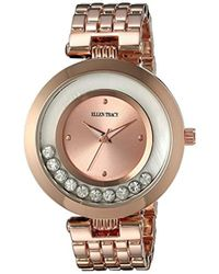 Ellen Tracy - Quartz Metal And Alloy Watch, Color:rose Gold-toned (model: Et5199rg) - Lyst