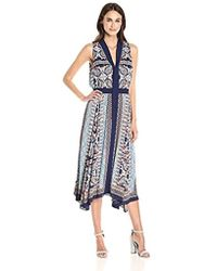 Laundry by Shelli Segal - Maxi Paisley Print With Tie - Lyst
