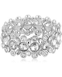 T Tahari - S Essentials Stretch Bracelet With Stones, Silver/crystal, One Size - Lyst