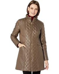 Via Spiga - Diamond Quilted Mid-length Lightweight Jacket - Lyst
