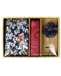 Original Penguin - Sommers 3-piece Floral Tie, Pocket Square & Lapel Pin Box - Lyst