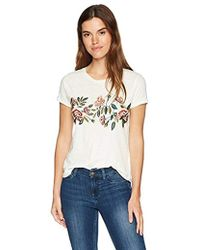 Lucky Brand - Rose Embroidered Tee - Lyst