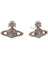 Vivienne Westwood - S Grace Bas Relief Stud Earrings - Lyst