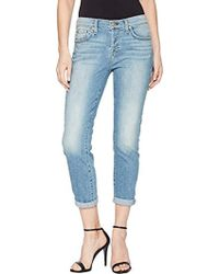 7 For All Mankind - Josefina Feminine Boyfriend Jean With Knee Holes - Lyst