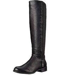 0fb98ddc386 Lyst - Steve Madden Pursue Motorcycle Boot in Black