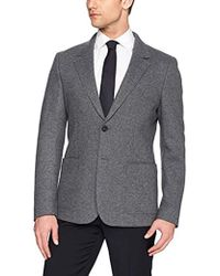 a16a9a033d Lyst - Perry Ellis Brushed Heather Windowpane Plaid Sport Coat in ...