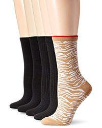 Anne Klein - Wild Flowers Patterned Crew Socks 5-pack - Lyst
