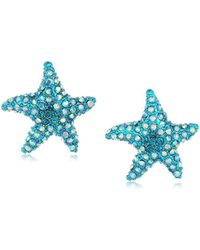 Betsey Johnson - S Blue Starfish Stud Earrings - Lyst