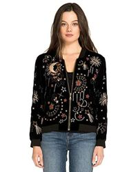Johnny Was - Embroidered Bomber Jacket - Lyst
