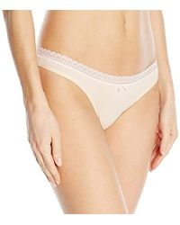 Betsey Johnson - Cotton Spandex Thong Panty - Lyst