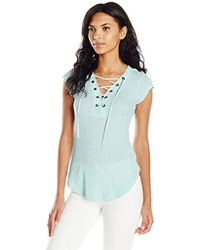 William Rast - Gordon Trifecta Cap Sleeve Knit Top - Lyst