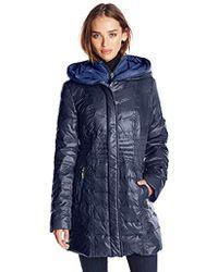 Kensie - Packable Down Coat With Hood - Lyst
