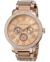 Vince Camuto - Vc/5000rgrg Swarovski Crystal Accented Rose Gold-tone Multi-function Bracelet Watch - Lyst