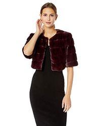 Eliza J - Faux Fur Shrug Jacket - Lyst