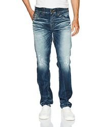 True Religion - Geno Slim Straight Jeans With Back Flap Pockets - Lyst