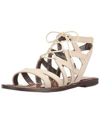 e4e7d080703af9 Lyst - Sam Edelman  gemma  Caged Suede Lace-up Sandals in Black