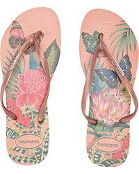 Havaianas - Slim Flip Flop Sandals, Tropical - Lyst