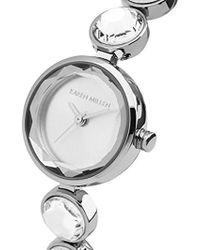 Karen Millen - Quartz Silver-tone And Stainless Steel Casual Watch, Color:silver (model: Km149sm) - Lyst